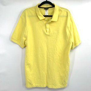 PATAGONIA Polo Shirt Short Sleeve Golf Yellow L